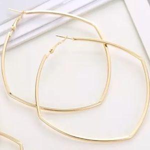 Large Rhombus Hoop Earrings